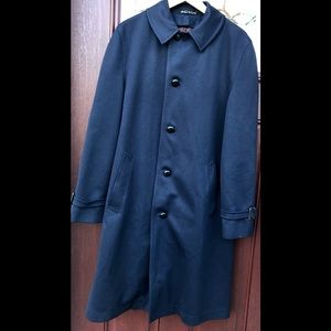 Vintage Jonathan Logan Weitz Blue Trench Coat 38L